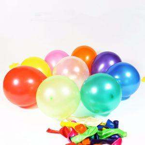 Bịch 50 cái bong bóng tròn nhũ mini 13cm (có nhiều màu)