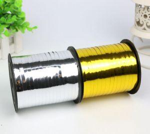 Cuộn dây ruy băng ánh kim 5mm x 250m (vàng/bạc)