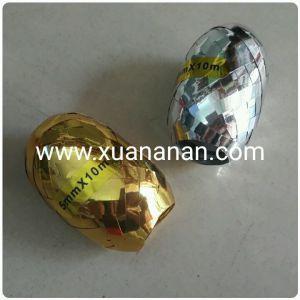 Cuộn dây ruy băng ánh kim 5mm x 10m (vàng/bạc)