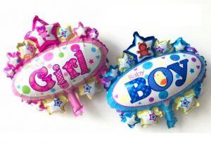 Bong bóng kiếng mini huy hiệu Baby Girl/Baby boy