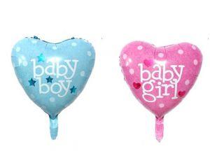 Bong bóng kiếng hình tim BABY GIRL/BABY BOY (45cm)