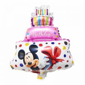 Bong bóng kiếng bánh kem 3 tầng mini hình Mickey 45cm