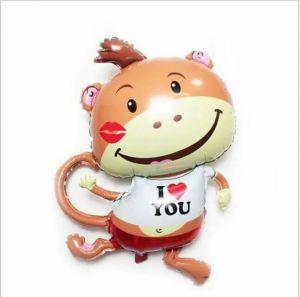 Bong bóng kiếng Con khỉ I Love You 88cm