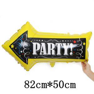 Bong bóng kiếng hình mũi tên Party 80cm