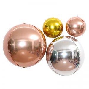 Bong bóng tròn 4D size lớn 55cm (vàng/bạc/rosegold)