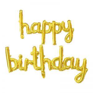 Bong bóng kiếng chữ Happy Birthday liền (có 3 màu)