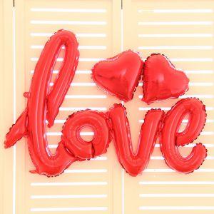 Set bong bóng kiếng chữ love và trái tim (có nhiều màu)