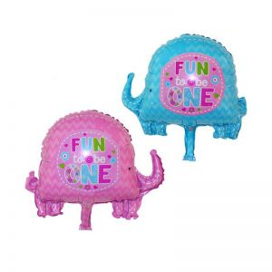 Bong bóng kiếng Con Voi 'Fun to be one' 48cm (xanh/hồng)