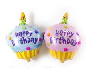 Bong bóng kiếng mini Cupcake (xanh/hồng)