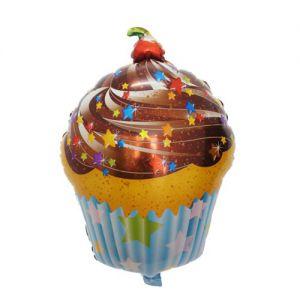 Bong bóng kiếng hình Cupcake 68cm