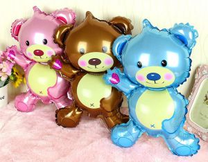 Bong bóng kiếng Gấu nhỏ 40cm (xanh/hồng/nâu)