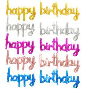 Bong bóng kiếng chữ Happy Birthday liền (có 5 màu)