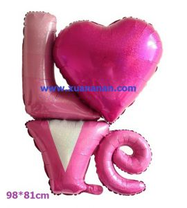 Bong bóng kiếng chữ LOVE cách điệu khổng lồ 98cm
