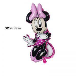 Bong bóng kiếng Minnie viền hồng 82cm