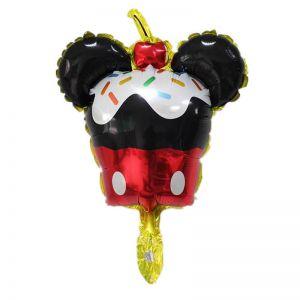 Bong bóng kiếng mini hình cupcake Mickey 45cm