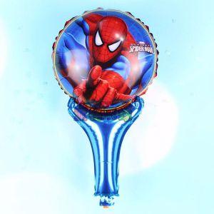 Bong bóng kiếng cầm tay hình Người nhện 45cm