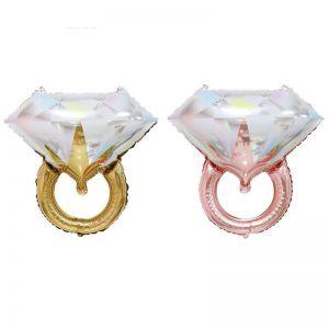 Bong bóng kiếng hình nhẫn kim cương lớn (2 màu)