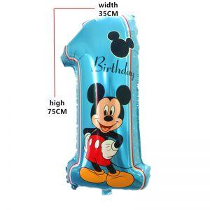 Bong bóng kiếng số 1 Mickey khổng lồ 75cm