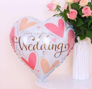 Bong bóng kiếng hình trái tim Wedding 45cm