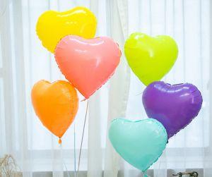 Bong bóng kiếng Trái tim màu pastel 45cm (có nhiều màu)