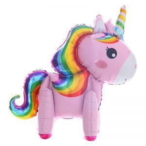 Bong bóng kiếng con ngựa Pony 3D (hồng/trắng)