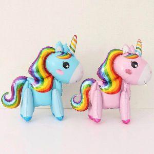 Bong bóng kiếng con ngựa Pony 3D (hồng/trắng/xanh)