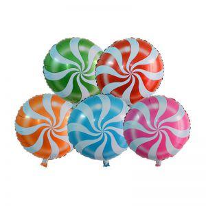 Bong bóng kiếng Viên kẹo mút tròn 45cm
