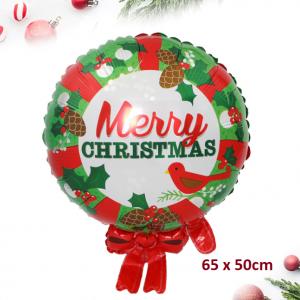 Bong bóng kiếng hình Vòng Nguyệt Quế Noel (65 x 45cm)