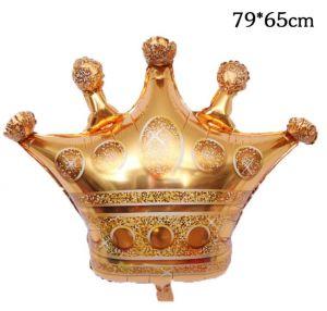 Bong bóng kiếng Vương miện Gold 79cm