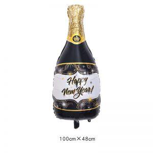 Bong bóng kiếng Chai rượu Happy New Year 100cm