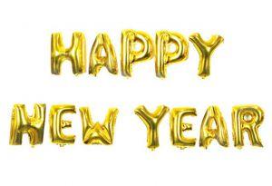 Set bong bóng kiếng chữ Happy New Year 40cm (có 4 màu)