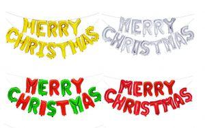 Set bong bóng kiếng chữ Merry Christmas (có 4 màu)