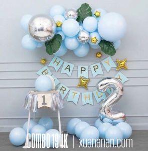 Combo trang trí sinh nhật Pastel Xanh [194K]