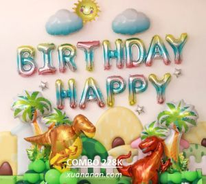 Combo trang trí sinh nhật Khủng Long [228K]