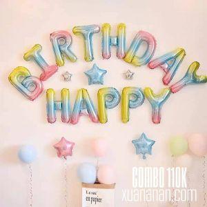 Combo trang trí sinh nhật Cầu vồng siêu tiết kiệm [110k]