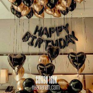 Combo trang trí sinh nhật Black-Gold [180K]