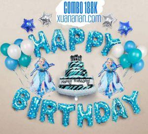 Combo trang trí sinh nhật mẫu Elsa [188K]