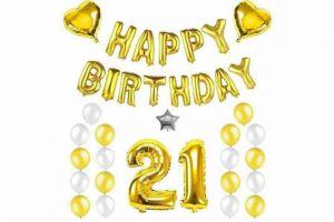 Combo trang trí sinh nhật phối tông vàng - bạc [188K]