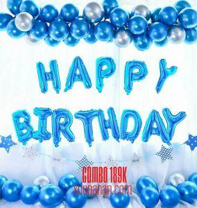 Combo trang trí sinh nhật Blue [189K]