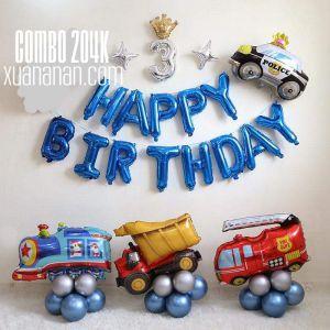 Combo trang trí sinh nhật Phuơng tiện giao thông [204K]