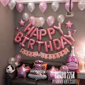 Combo trang trí sinh nhật Pinky [225K]