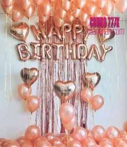 Combo trang trí sinh nhật Rosegold [227K]