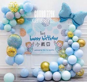 Combo trang trí sinh nhật Blue/Pink [229K]