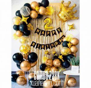 Combo trang trí sinh nhật tôngVàng Đen [238K]