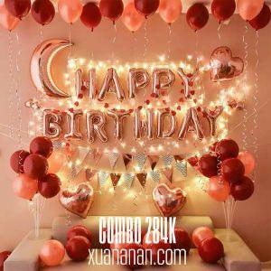 Combo trang trí sinh nhật Red & Rosegold [284K]