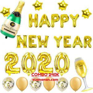 Combo bong bóng trang trí Happy New Year 2020 [240K]