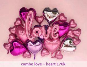 Combo trang trí chữ love tông hồng [170K]