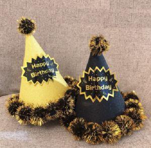 Nón sinh nhật dành cho chủ tiệc (Vàng Đen)