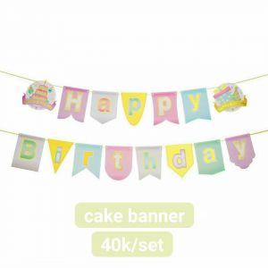 Dây chữ Happy Birthday mẫu Bánh Kem