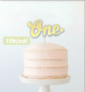 Cake topper chữ One